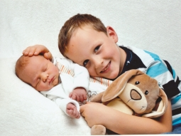 Wilbert mit Bruder Alwin